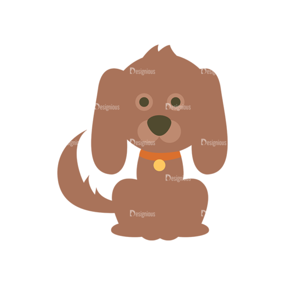Cute Animals Dog Svg & Png Clipart 1