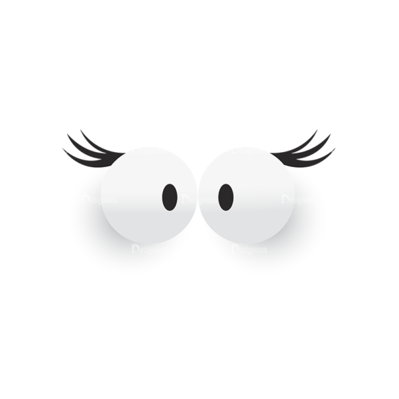 Cute Monsters Eyes Svg & Png Clipart 1