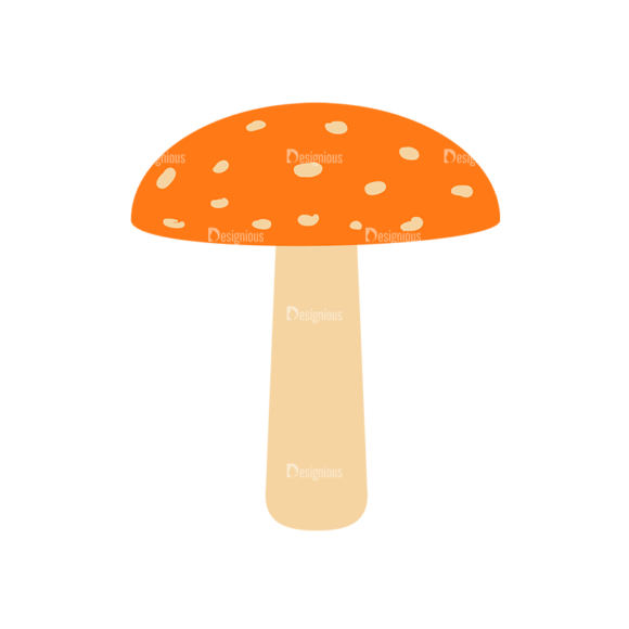 Cute Wild Animals Mushroom Svg & Png Clipart 1