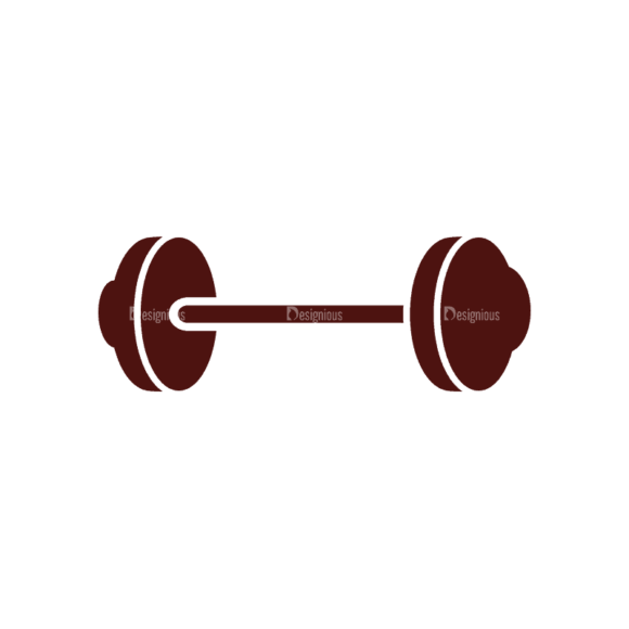 Fitness Elements Barbell Svg & Png Clipart 1