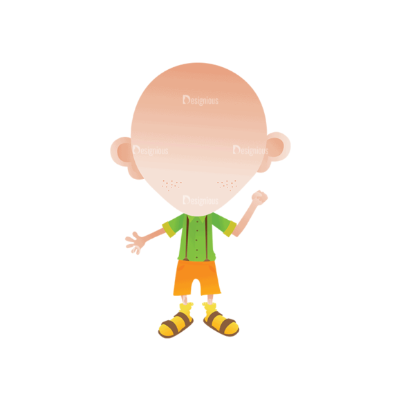 Geek Mascots Head And Body Svg & Png Clipart 1
