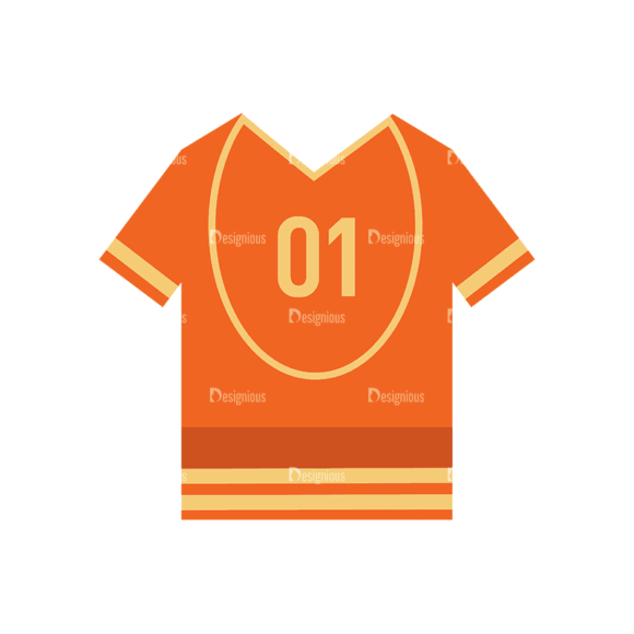 Sports Jersey Svg & Png Clipart 1
