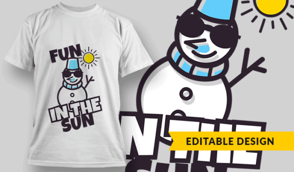 Fun In The Sun | Editable T-shirt Design Template 2259 1