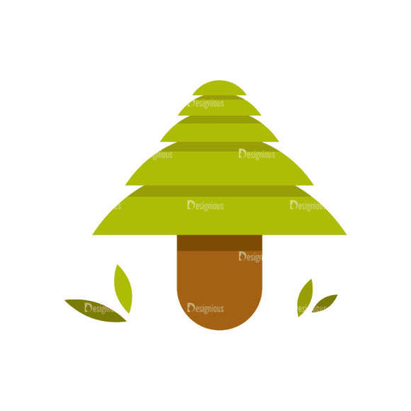 Hiking Camping Tree 09 Svg & Png Clipart 1