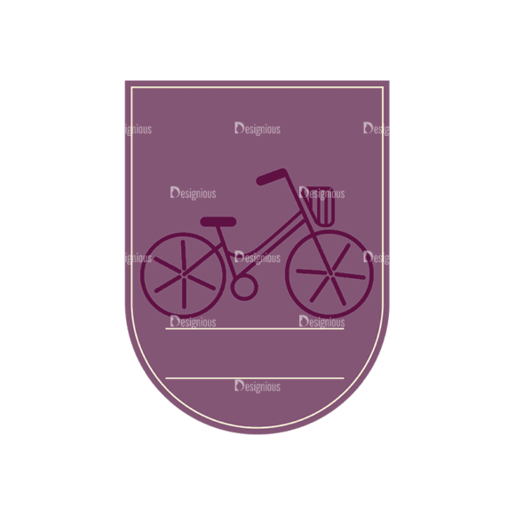 Travel Badges Bicycle Svg & Png Clipart 1