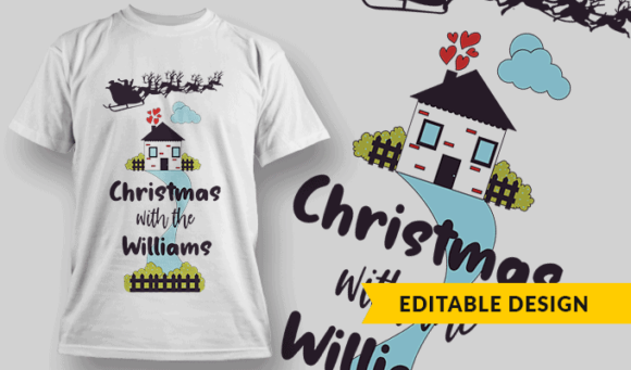 """Christmas With The"" + Family Name Placeholder 