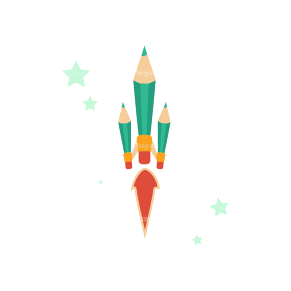 Flying Set 3 Spaceship 03 Svg & Png Clipart 1