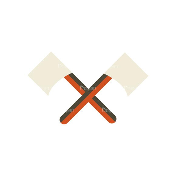 Mountain And Camping Info Elements Axe 14 Svg & Png Clipart 1