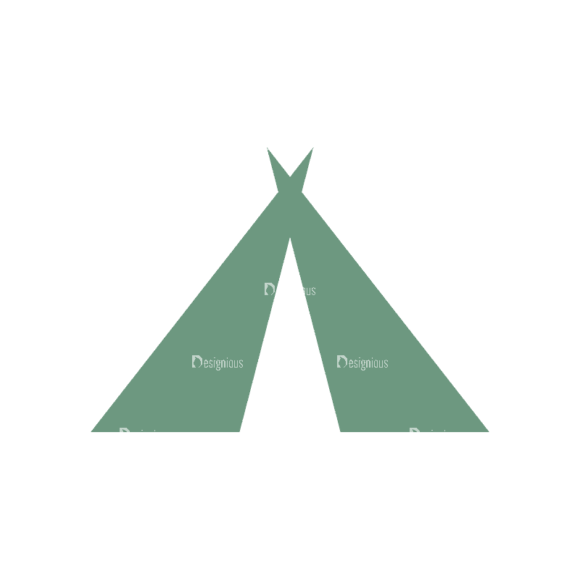 Mountain And Camping Info Elements Tent 08 Svg & Png Clipart 1