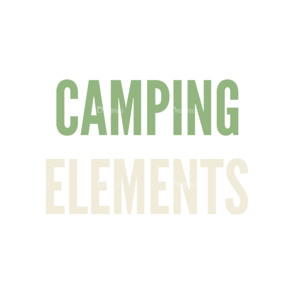 Mountain And Camping Info Elements Text Svg & Png Clipart 1