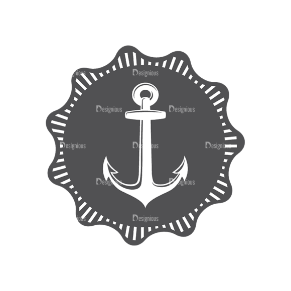 Nautical Labels Set 3 Anchor 10 Svg & Png Clipart 1