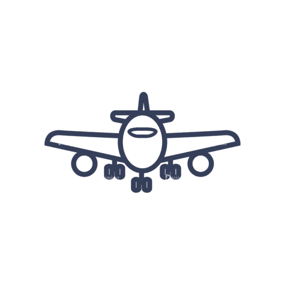 Planes Set 1 Airplane 06 Svg & Png Clipart 1