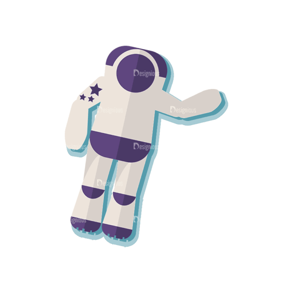 Space Exploration Set Astronaut Svg & Png Clipart 1