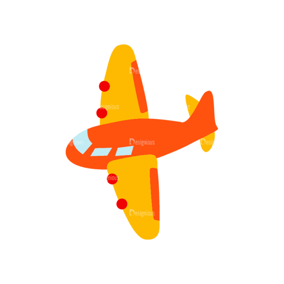 Transportation Set 1 1 Airplane Svg & Png Clipart 1