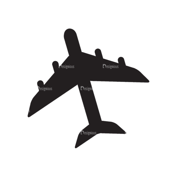 Travel Flat Set 1 Airplane Svg & Png Clipart 1