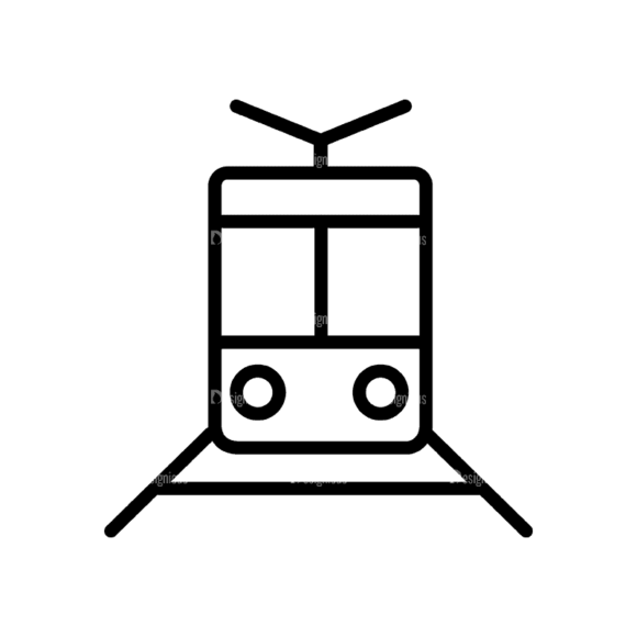 Travel Icons Set 4 Train 06 Svg & Png Clipart 1