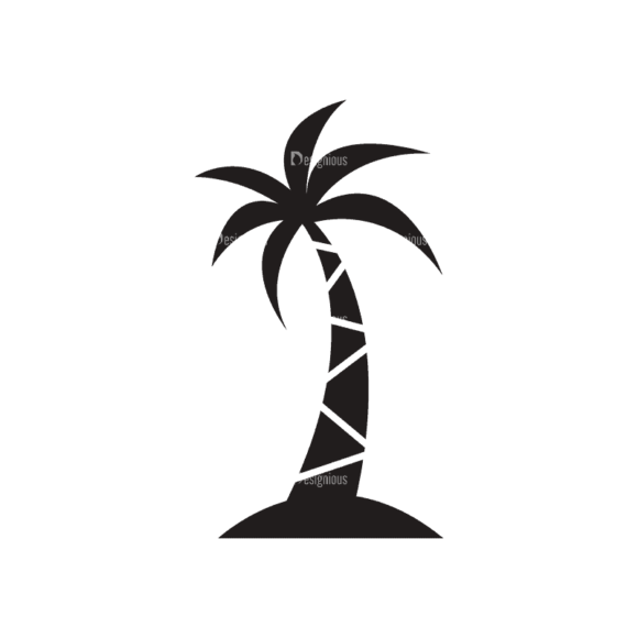 Travel Logos 2 Palm Tree Svg & Png Clipart 1