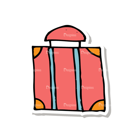 Travel Set 1 Luggage Svg & Png Clipart 1
