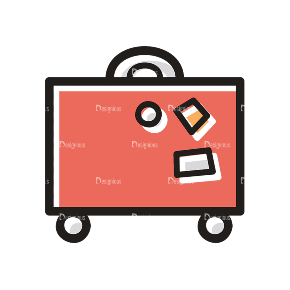 Travel Set 21 Luggage Svg & Png Clipart 1