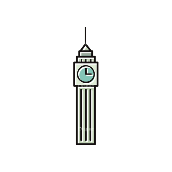 Travel Set 22 Tower Svg & Png Clipart 1