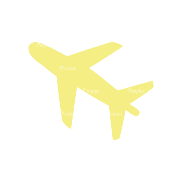 Travel Set 4 Airplane Svg & Png Clipart 1