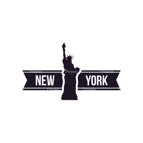Travel Stamps Set 2 New York Svg & Png Clipart 1