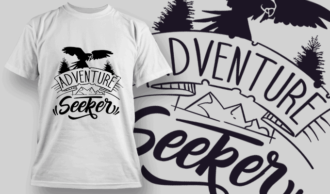 Adventure Seeker | T-shirt Design Template 2601