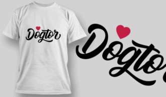 Dogtor (Veterinarian) | T-shirt Design Template 2531