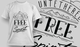 Untethered Free Spirit | T-shirt Design Template 2599