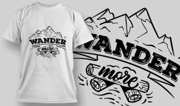 Wander More | T-shirt Design Template 2618