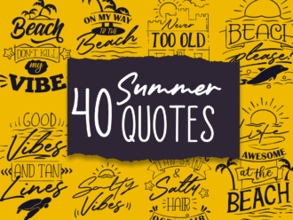 40x Summer Quotes With Decorations