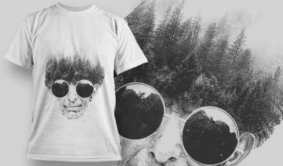 Double Exposure City | T-shirt Design Template 2715