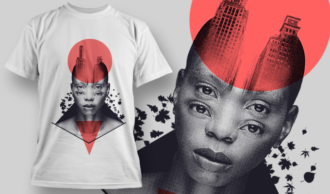 Double Exposure City | T-shirt Design Template 2718