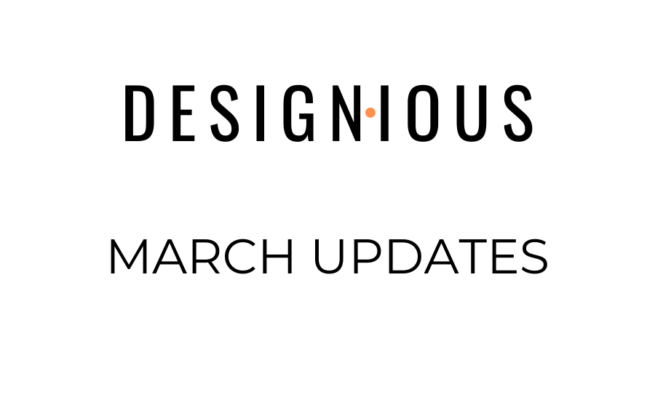 Designious March Updates 51