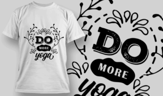 Do More Yoga | T-shirt Design Template 2692