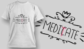 Meditate | T-shirt Design Template 2677