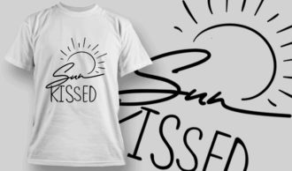 Sunkissed | T-shirt Design Template 2632