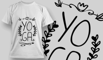 Yoga | T-shirt Design Template 2665